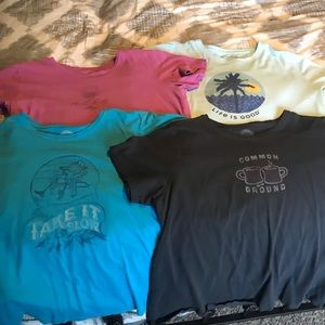 Lot of 4 Life Is Good Tees